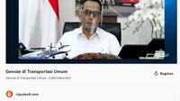 Bincang Editor Bersama Menteri Perhubungan Budi Karya Sumadi dengan tema GeNose di Transportasi Umum.