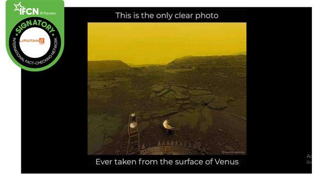 Klaim Foto Terjelas dari Permukaan Planet Venus. (Facebook)