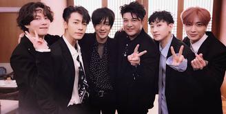 Dalam sebuah wawancara terbaru, Leeteuk, Donghae, Leeteuk Super Junior membahas tentang promosi lagu mereka terbaru. Seperti diketahui, mereka baru saja menyelesaikan syuting untuk videoklip. (Foto: Soompi.com)