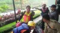 Hari Darmawan, pemilik Taman Wisata Matahari (TWM) Hari Darmawan, ditemukan tewas di pinggir Sungai Ciliwung, Desa Leuwimalang, Kecamatan Cisarua, Kabupaten Bogor, Jawa Barat. (Liputan6.com/Achmad Sudarno)