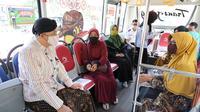 Bus Trans Jateng koridor 1, rute Solo-Sragen, Kamis (3/9) mulai beroperasi setelah resmi diluncurkan.