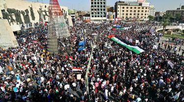 FOTO: Dukungan Warga Dunia untuk Rakyat Palestina