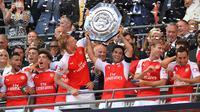 Ketika memutuskan untuk pensiun Mikel Arteta sempat ditawari kursi manajer untuk Arsenal Junior namun dirinya lebih memilih menjadi asisten Pep Guardiola. (AFP/Glyn Kirk)