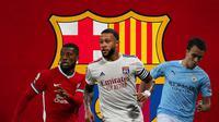 Barcelona - Georginio Wijnaldum, Memphis Depay, Eric Garcia (Bola.com/Adreanus Titus)