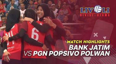 Berita Video Highlights Livoli 2019, Bank Jatim Juara Usai Kalahkan PGN Popsivo Polwan 3-0