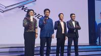 President of Samsung Electronics Indonesia Jaehoon Kwon meluncurkan Galaxy Note 10 di Jakarta, Rabu (21/8/2019). (Liputan6.com/ Agustin Setyo Wardani)