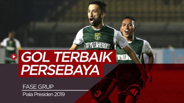 Berita video 3 gol terbaik Persebaya Surabaya yang tercipta pada fase grup Piala Presiden 2019.