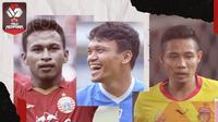 Osvaldo Haay, Evan Dimas dan Ferdinand Sinaga. (Bola.com/Dody Iryawan)