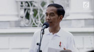 Presiden Jokowi membacakan puisi bertajuk 'Sumpah Abadi' karya Dewi Lestari.