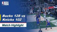 Berita Video Highlights NBA 2019-2020, Milwaukee Bucks vs New York Knicks 128-102