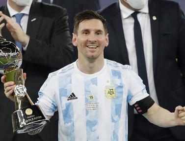 Foto Copa America: Bawa Timnas Argentina Juara, Lionel Messi Sabet Penghargaan Pencetak Gol Terbanyak