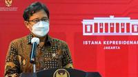 Menteri Kesehatan RI Budi Gunadi Sadikin memberikan keterangan pers mengenai Penanganan Pandemi COVID-19 dan Tindak Lanjut Program Vaksinasi di Kantor Presiden, Jakarta, Jumat (26/3/2021). (Biro Pers Sekretariat Presiden)