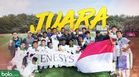 Timnas Undonesia U-16 Juara Turnamen Jenesys, Jepang. (Bola.com/Dody Iryawan)