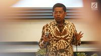 Idrus Marham memberi sambutan dalam serah terima jabatan Menteri Sosial di Kantor Kementerian Sosial, Salemba, Jakarta Pusat, Kamis (18/1).  Presiden Jokowi melantik Idrus pada Rabu (17/1). . (Liputan6.com/Angga Yuniar)