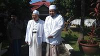Ketua GP Ansor Kabupaten Bangkalan, Hasani Zubair, saat bersama Calon Wakil Presiden RI KH Ma'ruf Amin