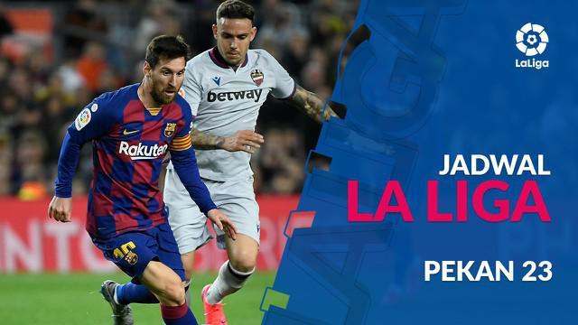 Berita video jadwal La Liga 2019-2020 pekan ke-23. Barcelona bertandang ke markas Real Betis, Senin (10/2/2020) di Stadion Benito Villamarin, Sevilla.
