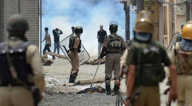 Ilustrasi keadaan di Kashmir, perbatasan India dan Pakistan (AFP Photo)
