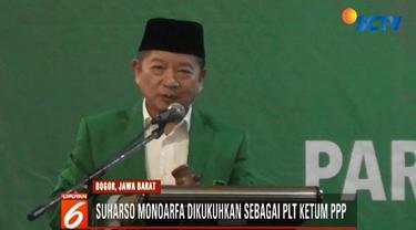 Dalam keterangan persnya usai Mukernas, Suharso mengajak kader PPP kubu Muktamar Jakarta untuk kembali bergabung guna membesarkan partai berlambang ka'bah tersebut.