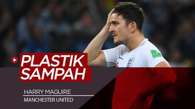 Berita video kisah singkat bek baru Manchester United, Harry Maguire, yang sempat viral di media sosial karena plastik sampah. Apa yang dilakukannya?