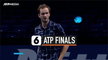 Petenis tunggal putra no 1 dunia Novak Djokovic ditumbangkan petenis Rusia Daniil Medvedev di ajang ATP Finals di London Inggris.