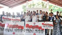 Kemenpora bersama Tim Dragon Boat Indonesia .