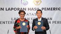 Kementerian Kelautan dan Perikanan (KKP) meraih opini Wajar Tanpa Pengecualian (WTP) dari Badan Pemeriksaan Keuangan Republik Indonesia (BPK RI) untuk laporan keuangan tahun 2018.