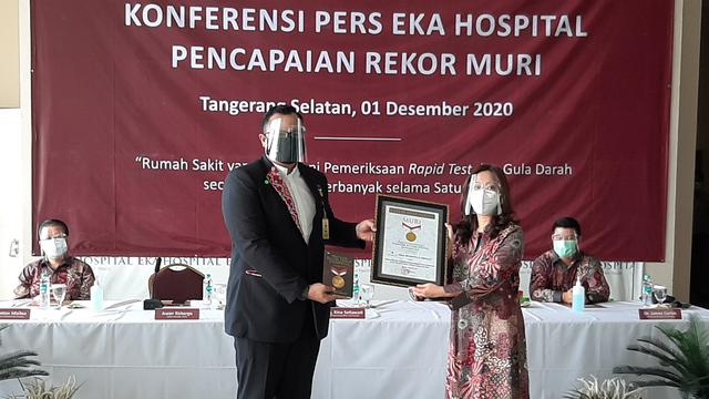 Eka Hospital Group Cetak Rekor MURI