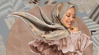 Berikut koleksi hijab dari Kami kolaborasi dengan influencer Gita Savitri yang terinspirasi dari kuliner nusantara. (Foto: Dok. Kami)