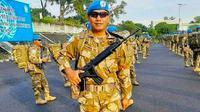 Serma Rama Wahyudi bersama pasukan perdamaian Indonesia untuk PBB. (Liputan6.com/Istimewa)