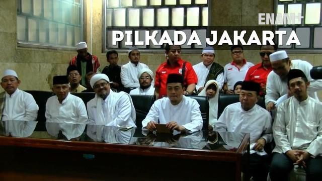 Ratusan anggota organisasi massa Islam berkumpul di Masjid Istiqlal, Jakarta Pusat, Minggu (18/9/2016).