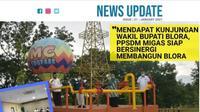 Kepala PPSDM Migas, Wakhid Hasyim menerima kunjungan kerja Wakil Bupati Blora (Bupati Terpilih Periode 2021 – 2024) Arief Rohman pada Rabu siang (20/01/2021).