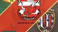 Ilustrasi - Logo Bhayangkara Solo FC, Madura United, Bali United (Bola.com/Adreanus Titus)