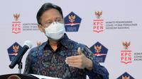 Ketua Satgas PEN Budi Gunadi Sadikin optimis dapat merealisasikan target penyerapan anggaran pemulihan ekonomi nasional hingga akhir tahun 2020 saat jumpa pers di Kantor Presiden, Jakarta, Rabu (2/9/2020). (Tim Komunikasi Komite Penanganan COVID-19)