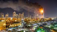 Hotel The Address di Dubai mengalami kebakaran pada Malam Tahun Baru. (dok. Faz.net)