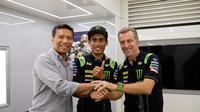 Hafizh Syahrin akan tetap bersama Tech 3 hingga MotoGP 2019. (Twitter/@Tech3Racing)