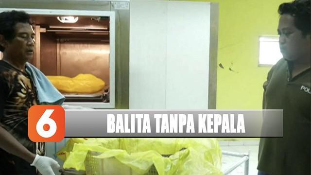 Warga digegerkan penemuan jasad balita tanpa kepala di Samarinda, Kalimantan Timur.