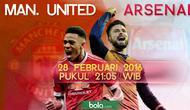 Manchester United vs Arsenal (Bola.com/Samsul Hadi)