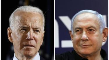 Presiden AS Joe Biden dan PM Israel Benjamin Netanyahu.