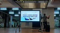 TNI-Polri, PT Angkasa Pura II, Avsec hingga Sriwijaya Air mendirikan posko crisis center terkait Sriwijaya Air SJ 182 yang diduga jatuh. (Liputan6.com/Pramita Tristiawati)