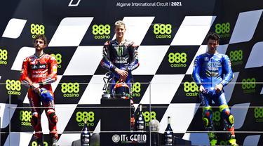 FOTO: Juara MotoGP Portugal, Fabio Quartararo Puncaki Klasemen Sementara