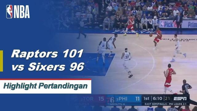 Kawhi Leonard menambah 39 poin dan 14 rebound saat Toronto mengalahkan Philadelphia untuk seri 2-2.