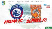 Liga 1 2018 Arema FC Vs Pusamania Borneo FC (Bola.com/Adreanus Titus)