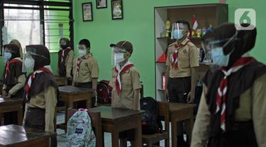 FOTO: Uji Coba Sekolah Tatap Muka di Jakarta