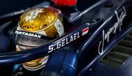 Sean Gelael saat menjalani sesi tes pramusim Formula 2 2020 di Sirkuit Sakhir, Bahrain. (Istimewa)