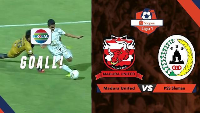 Berita video momen gol PSS Sleman saat mengalahkan Madura United dalam lanjutan Shopee Liga 1 2019 di Stadion Ratu Pamelingan, Pamekasan, Rabu (31/7/2019).