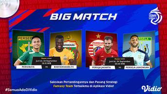 Link Live Streaming BRI Liga 1, Big Match Persija Jakarta vs Persela Lamongan Tayang di Vidio Jumat, 24 September 2021