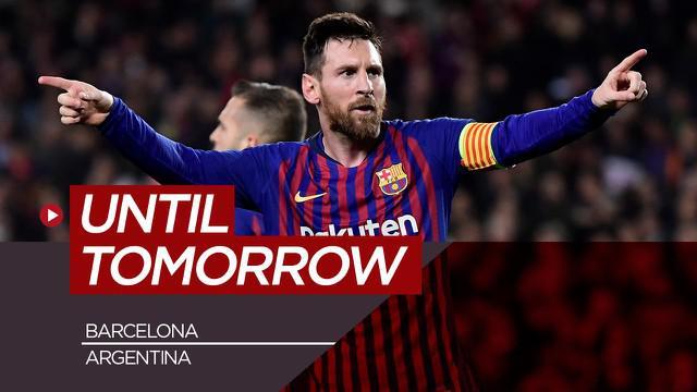 Berita motion grafis perubahan Lionel Messi dari awal karier hingga melegenda di Barcelona.