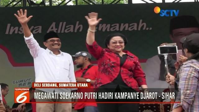 Kampanye terakhir Pilkada Sumut, Megawati mengimbau agar warga tak salah pilih. Sementara Prabowo di kampanye Pilkada Jawa Tengah, meyakini warga agar memilih pasangan Sudirman Said dan Ida Fauziyah.