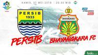 Jadwal Liga 1 2018, Persib Bandung-Bhayangkara FC. (Bola.com/Dody Iryawan)