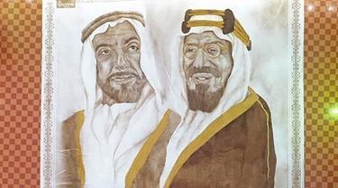 Lukisan dari Bubuk Kopi